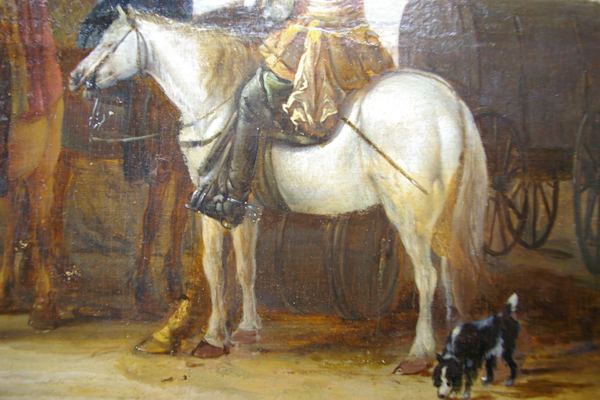 paard met vijf benen; overschildering verwijderen